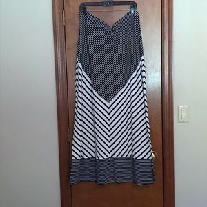 The Limited Striped Maxi Skirt